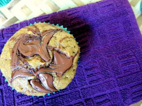 Nutella Swirl Banana Bread Muffins